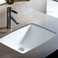 Square Porcelain Undermount Sink
