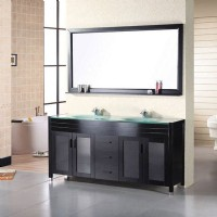 Design Element 60 Inch Double Sink Vanity Set