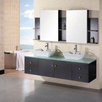 Design Element Portland 72 Inch Double Sink Vanity Set