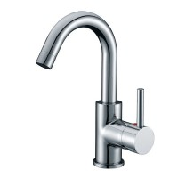 Solid Brass Single Handle Lavatory Faucet Brushed Nickel