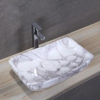 Porcelain Art Basin: Marble Pattern-2