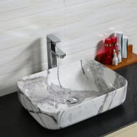 Porcelain Art Basin: Marble Pattern-1