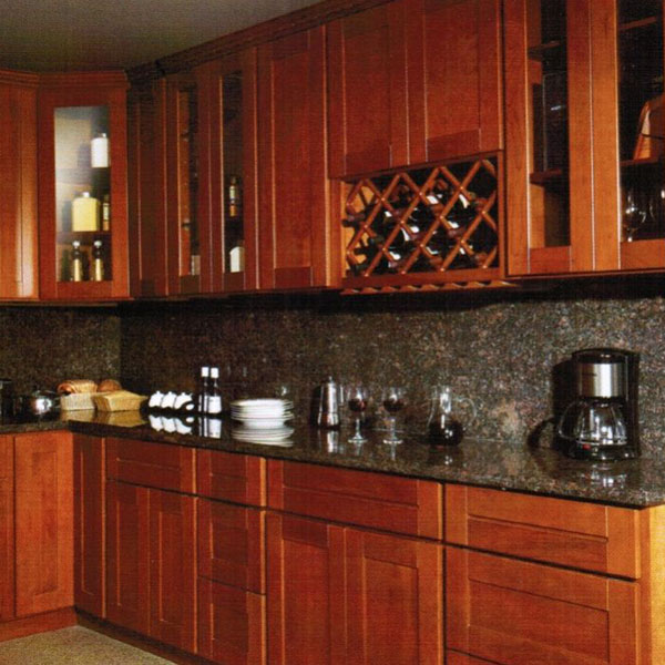 Cherry Shaker Solid Wood Cabinet