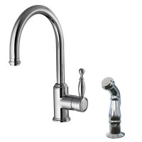 Single Lever Kitchen Faucet with Side Sprayer Head