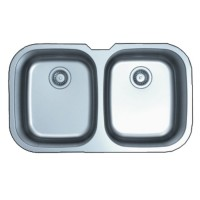 Large Double Bowl Kitchen Sink