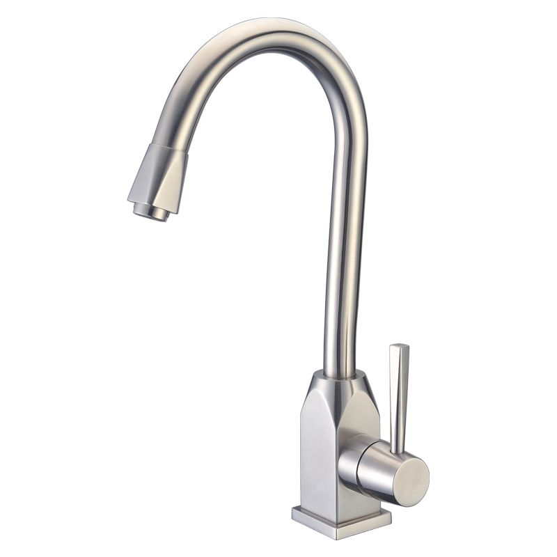 Solid Stainless Steel Kitchen Faucet