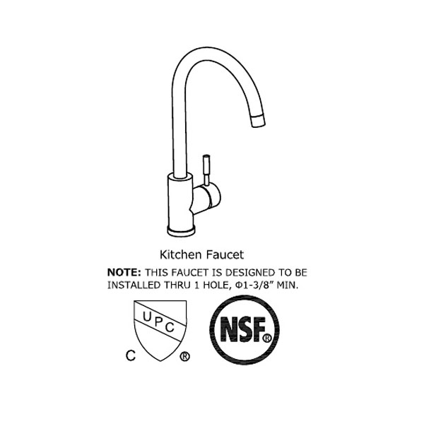 Single function kitchen faucet