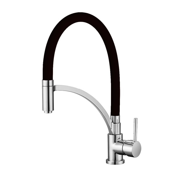 Pull down kitchen faucet